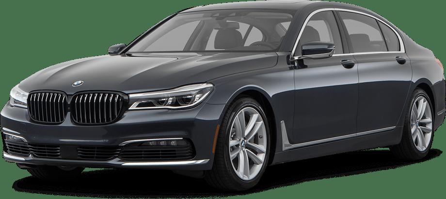 An illustration of a grey BMW sedan